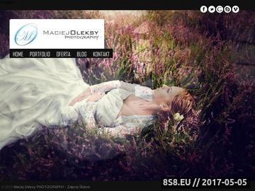 Zrzut strony Maciej Oleksy - fotografia ślubna Koszalin