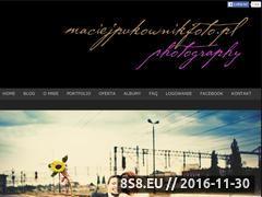 Miniaturka domeny www.maciejpukownikfoto.pl