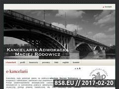 Miniaturka Kancelaria Adwokacka, Adwokat Maciej Rodowicz (www.maciejrodowicz.pl)
