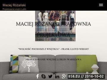 Zrzut strony Projektowanie wnętrz Lublin - Maciej Różański
