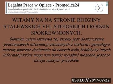 Zrzut strony Strona Rodziny Stalewskich vel Stojoskich