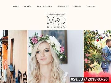 Zrzut strony MaD Studio fotografia ślubna