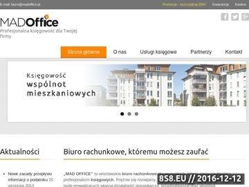Zrzut strony Madoffice - księgowa Wrocław