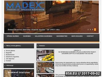 Zrzut strony MADEX Kamieniarstwo Kamień Pomorski Nagrobki Świnoujście Kołobrzeg