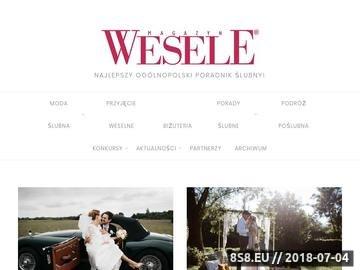 Zrzut strony Magazyn ślubny