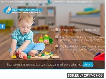 Zrzut strony Fizioterapia pediatryczna - Magdalena Chwiałkowska (Pietrzak)