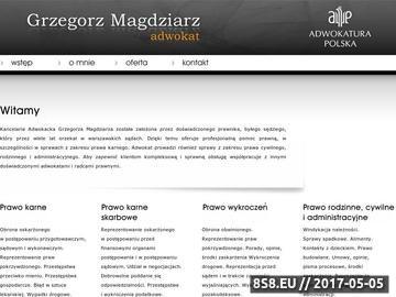 Zrzut strony Adw. Grzegorz Magdziarz / sprawy karne