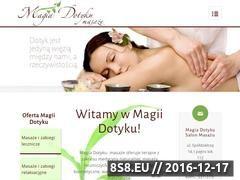 Miniaturka domeny www.magiadotyku.com.pl