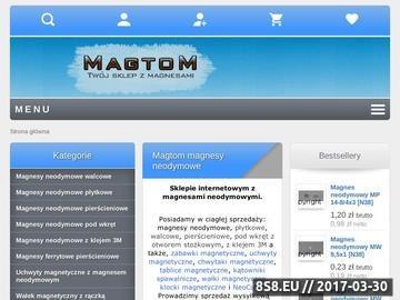 Zrzut strony Sklep z magnesami neodymowymi Magtom