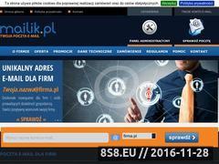 Miniaturka domeny www.mailik.pl