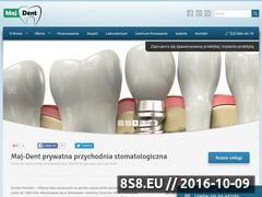 Miniaturka domeny maj-dent.pl
