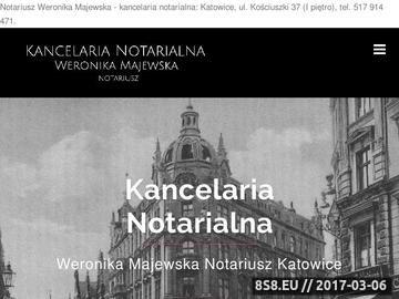 Zrzut strony Usługi notarialne
