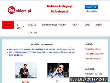 Zrzut strony Serwis Edukacyjny Rynku Kapitałowego Maklers
