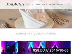 Miniaturka Dekorowanie imprez, dekorowanie ślubów (malachitdecor.pl)
