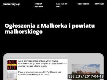 Zrzut strony Ogłoszenia drobne z Malborka i okolic