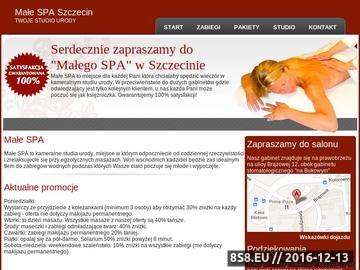 Zrzut strony SPA Szczecin