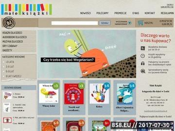 Zrzut strony Małe książki - internetowa księgarnia dziecięca