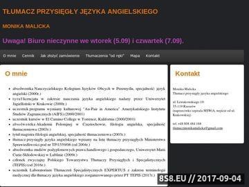 Zrzut strony Monika Malicka - tłumacz przysięgły
