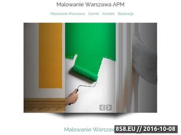 Zrzut strony Kompleksowe usługi związane z malowaniem w Warszawie