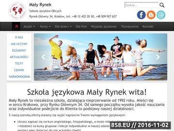 Zrzut strony Szkoła językowa Mały Rynek Kraków