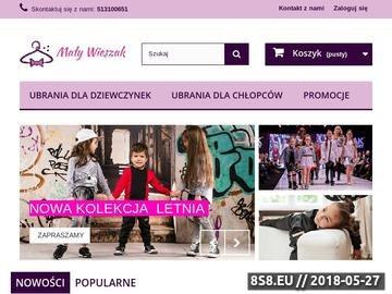 Zrzut strony Ubrania dla dziewczynek Mały Wieszak