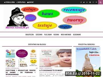 Zrzut strony Blog parentingowy, recenzje książek, opisy zabawek i gier
