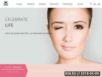 Zrzut strony Klinika estetyczna Warszawa