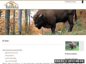 Zrzut strony Maniówka Domki w Bieszczadach