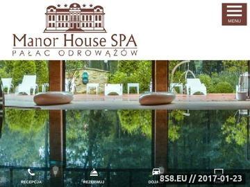 Zrzut strony Manor House to hotel SPA. Oferuje romantyczny weekend w SPA.