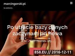 Miniaturka domeny marcingorski.pl