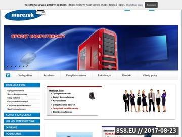 Zrzut strony Oprogramowanie, kasy fiskalne i komputery - Marczyk - Stanisław Marczyk