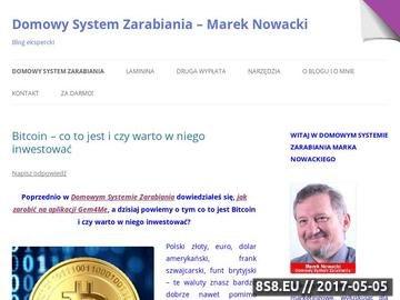 Zrzut strony Domowy System Zarabiania - Zarabiaj na zakupach