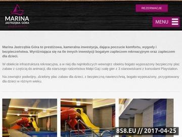 Zrzut strony Oferta firmy obejmuje wynajem i sprzedaż apartamentów nad morzem