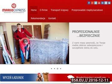 Zrzut strony Mario Express - usługi transportowe i przeprowadzki Rzeszów