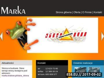 Zrzut strony Marka - Reklamy Kraków