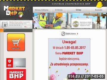 Zrzut strony Market BHP