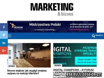 Zrzut strony Blog o marketingu