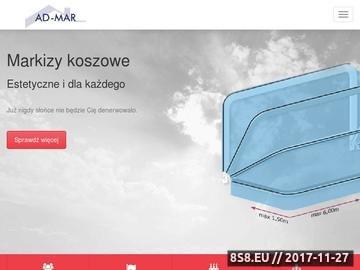 Zrzut strony Admar - Andrzej Buta - markizy