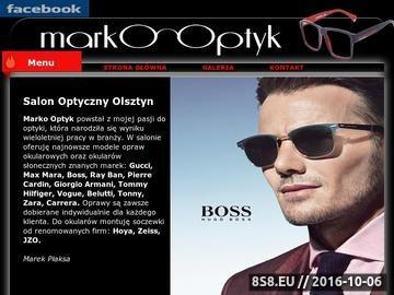 Zrzut strony Opis oferty salonu optycznego w Olsztynie