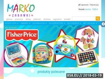 Zrzut strony Oferujemy sprzedaż zabawek przez internet oraz stacjonarnie