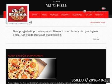 Zrzut strony Marti Pizza Nowy Sącz