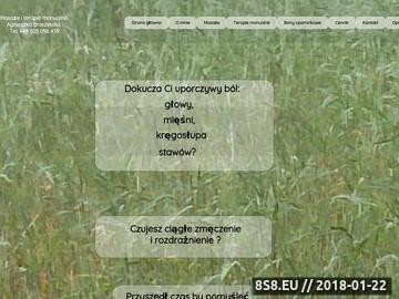 Zrzut strony A. Brzezińska - masaże głębokie z dojazdem