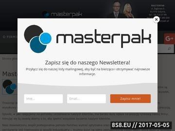 Zrzut strony MASTERPAK producent opakowań tekturowych