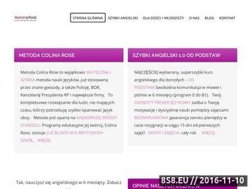 Zrzut strony Kursy języka angielskiego w Rzeszowie