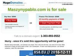 Miniaturka domeny www.maszynypablo.com