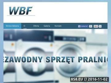 Zrzut strony WBF - serwis sprzętu pralniczego