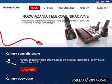 Zrzut strony Centrale telefoniczne MATAR-PLUS