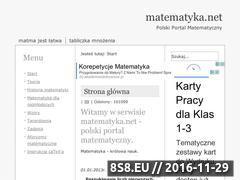 Miniaturka domeny www.matematyka.net