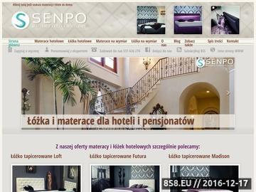 Zrzut strony Materace i łóżka hotelowe - SENPO