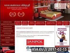 Miniaturka domeny www.materace-sklep.pl